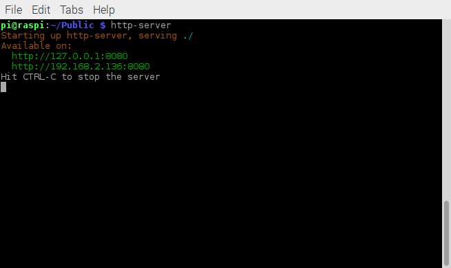 http-server serving