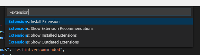 VS Code Extension Install