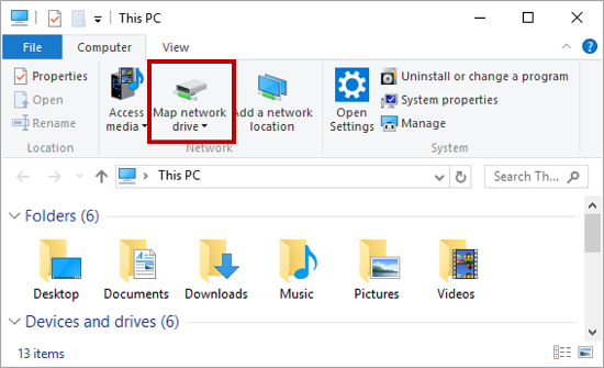 how to map a network drive in raspbian