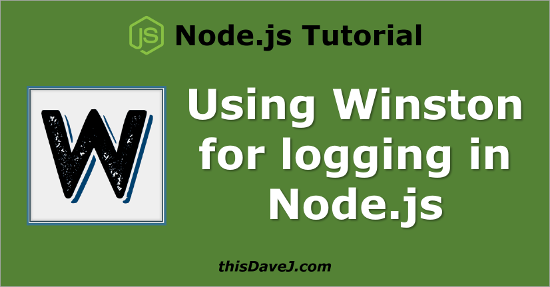 Today We Will Explore Winston A Versatile Logging Library For Nodejs Can Be Used In Number Of Contexts Including Node Web Frameworks Such