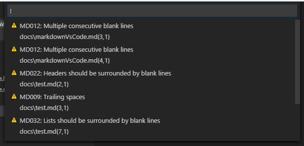 Markdown lint errors